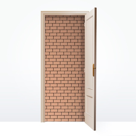 walled: Walled door  Vector design