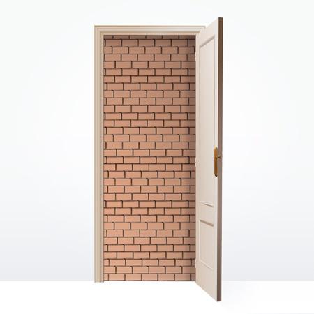Walled door  Vector design Stock Vector - 17265569