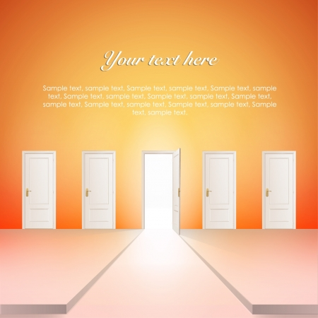 Room with multiple doors  Vector design   Stock Vector - 17265410
