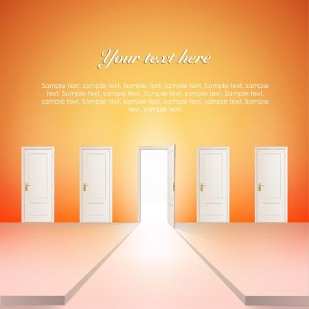 Room with multiple doors  Vector design   Stock Vector - 17265410
