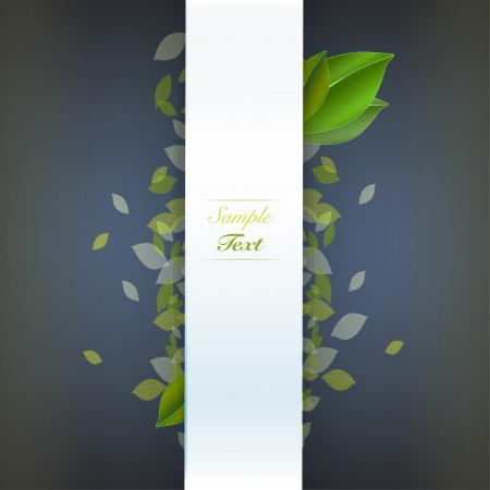 Eco leaves background  Vector design   Vector