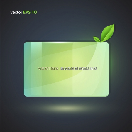plexiglas: Eco plastic for insert text  Vector design