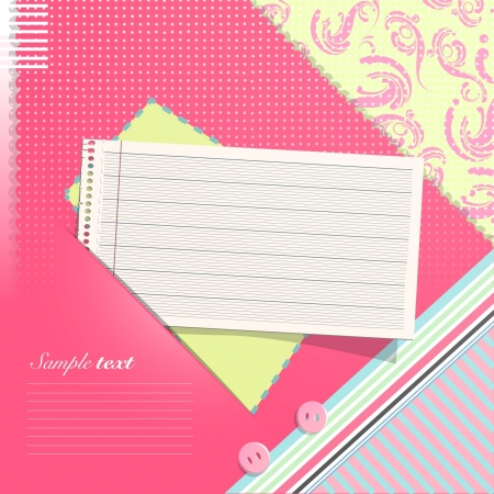 Paper note on beautiful background  Vector design   Stock Vector - 17303102