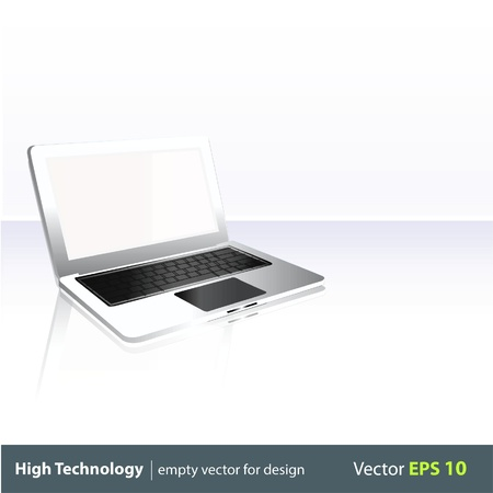 Modern laptop Isolated  Vector illustration Stock Vector - 17303160