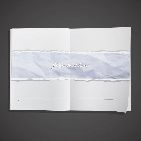 Sheet texture inside a book  Vector design   Vector