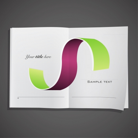 Abstract business design inside a book  Vector design   Vector