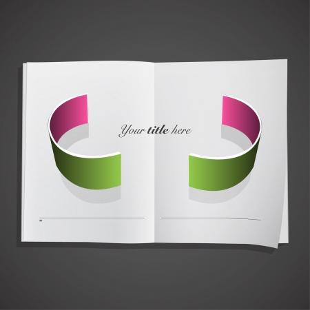 Abstract design inside a book  Vector design Stock Vector - 17303191