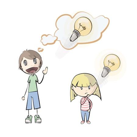 People having an idea  Vector illustration   Vector