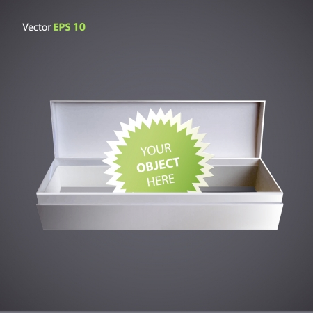 Open white box for insert object   design   Vector