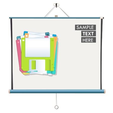 Diskettes inside a screen   design Stock Vector - 17344286