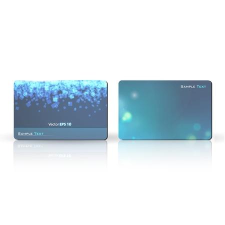 Blue business card  Vector design   Stock Vector - 17344219