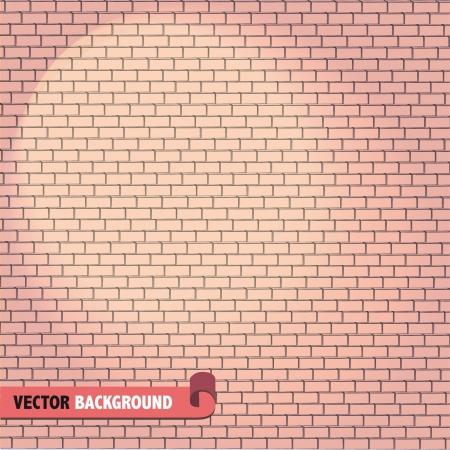 Brick wall   illustration   Stock Vector - 17343924