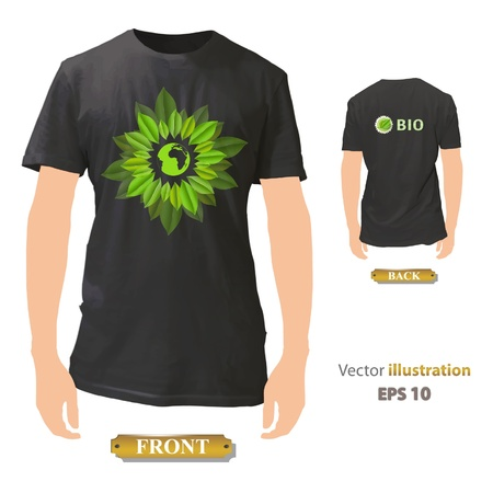 Eco shirt design   illustration   Vector
