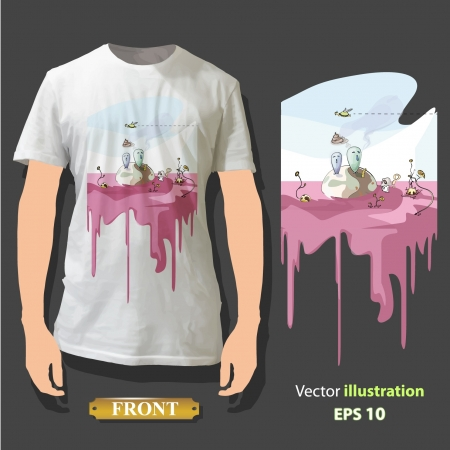 t shirt isolated: Beautiful print on shirt   Background
