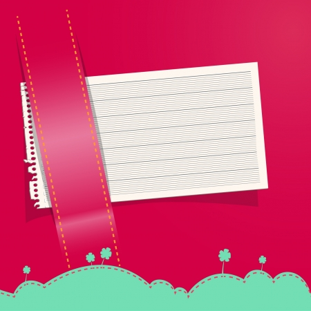 empty wallet: Note paper in colorful purse  Vector illustration