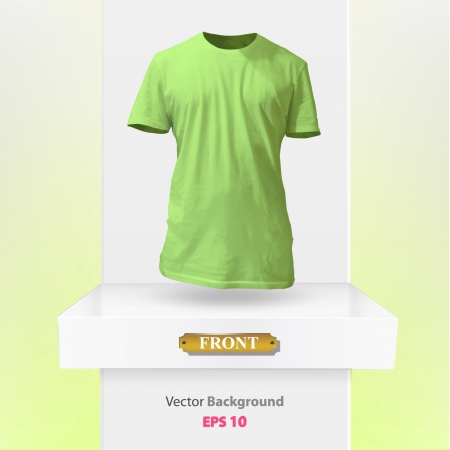 Realistic green shirt on a shelf  Vector illustration   Stock Vector - 17353269