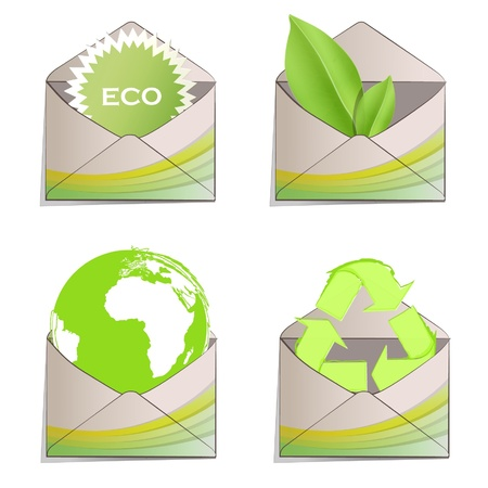 Post with ecological elements printed in it  Vector design