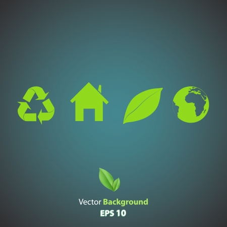 Collection of many ecological icons  Vector design Stock Vector - 17353262