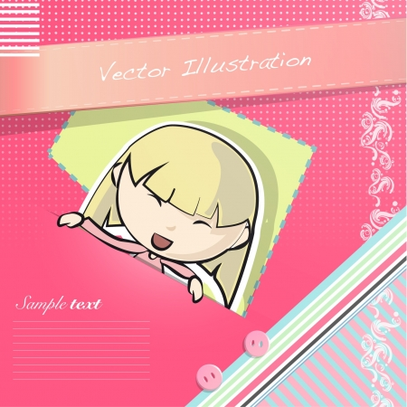 Girl having a look on post letter  Vector illustration   Vector