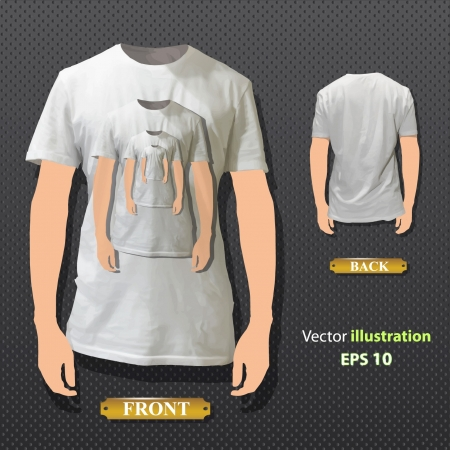 Shirt on a shirt  Vector design   Illustration