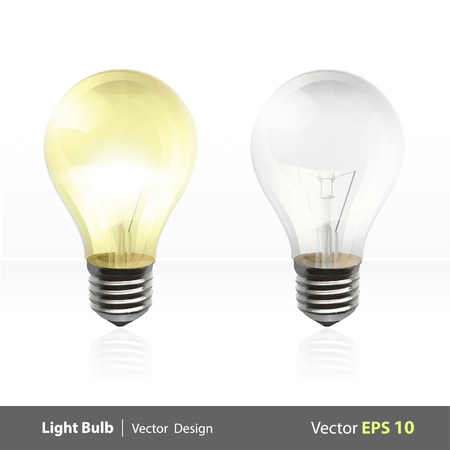 Light up bulb  background design   Vector