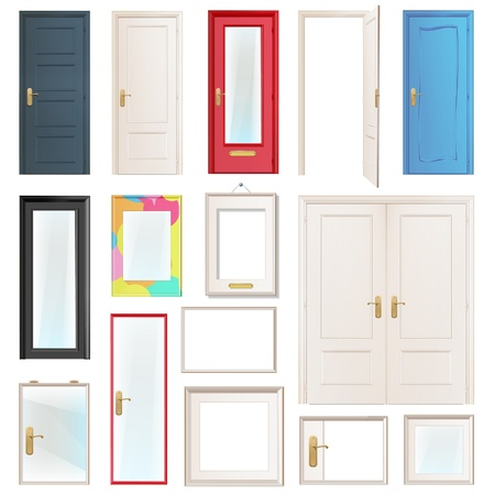 Collection of doors Stock Vector - 17382619