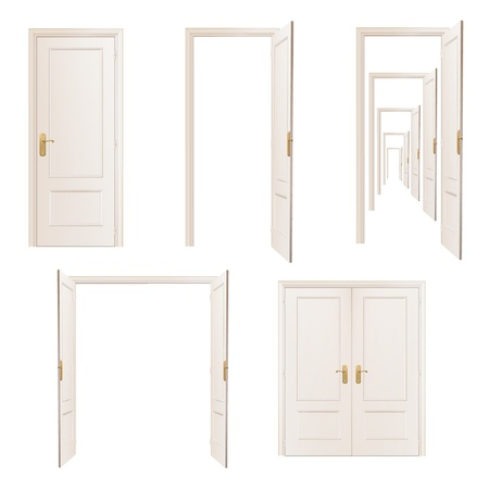 porte   � porte: Collection de portes Illustration