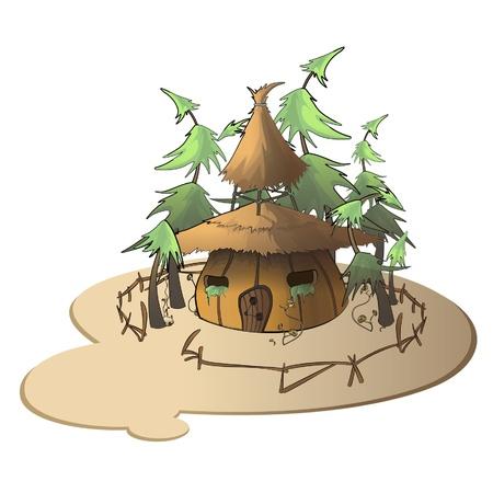 pumpkin house on white background illustration   Stock Vector - 17407273