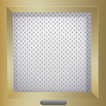 Background dots in gold frame Stock Vector - 17409183