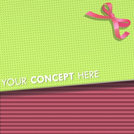 Green paper on pink corrugated cardboard background design Stock Vector - 17409188