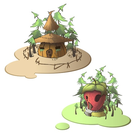 cottage garden: collection of fantasy house