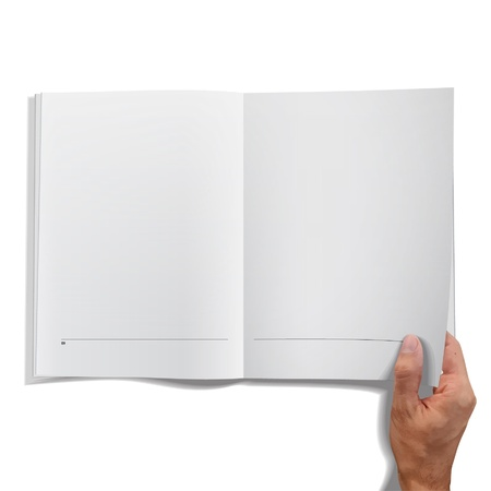 Isolated open book on white background design