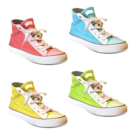 Colorful shoes  Vector design Stock Vector - 17422624