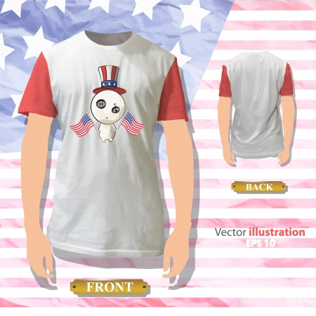American teddy inside a shirt  Realistic vector illustration   Stock Vector - 17422622