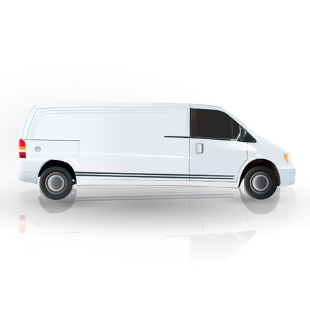 Realistic van isolated on white  Vector design Stock Vector - 17470104
