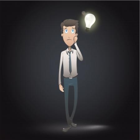 student thinking: business man