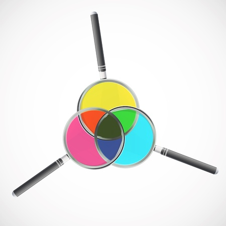 Colorful magnifying glass. Vector design. Stock Vector - 17613614