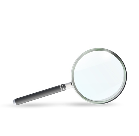 Magnifying glass isolated on white background. Vector design.