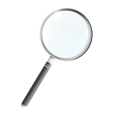 Magnifying glass isolated on white background. Vector design. Stock Vector - 17613611