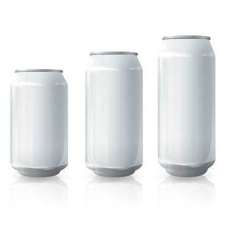 beer can: Tin collection  Vector design   Illustration