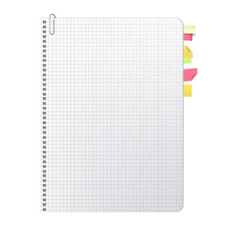 Open notebook with separators  Vector design Stock Vector - 17613613