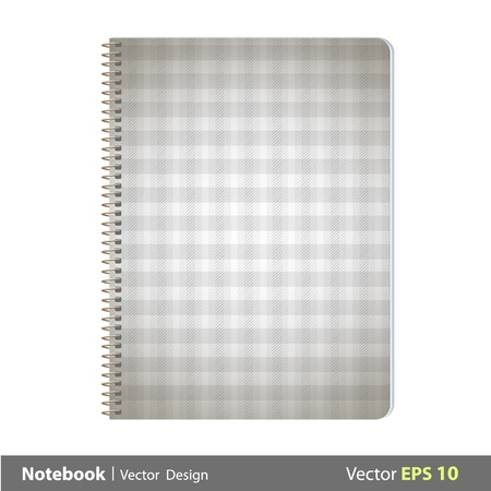 Ring notebook with fabric cover  Vector design   Vector