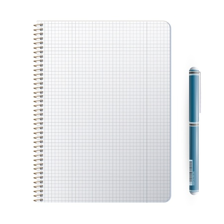 Ring notebook with close pen  Vector design   Vector