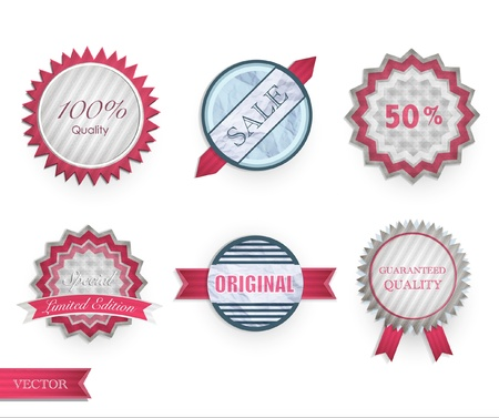 Set of vintage labels  Vector design   Stock Vector - 17613705