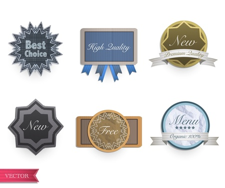 Set of vintage labels  Vector design Stock Vector - 17613759