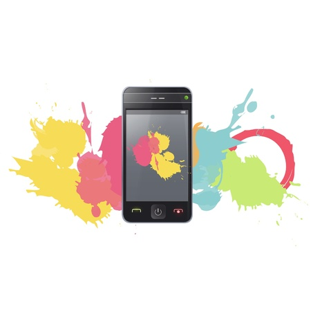 Realistic Phone and Pad  Vector illustration Stock Vector - 17613602