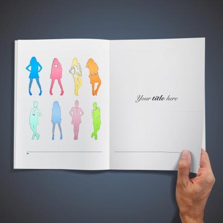 Colorful models inside a book  Vector design Stock Vector - 17786817