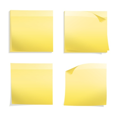 sticky notes: Yellow Post it  Vector design Illustration
