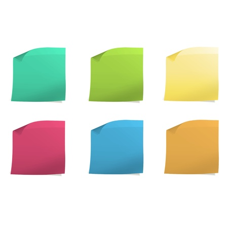 Colorful Post it  Vector design