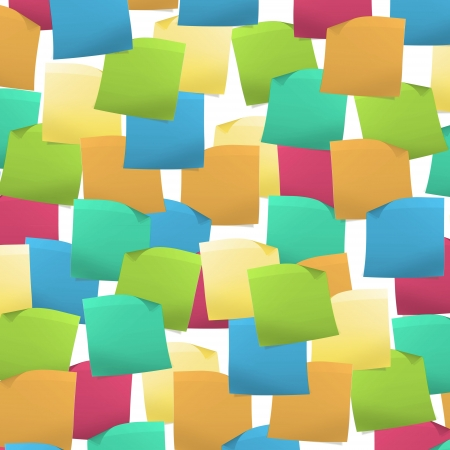 posit: Full background with colorful Post it  Vector design